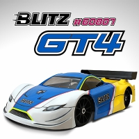 BLITZ 1/8 GT4 Body Shell (Clear)
