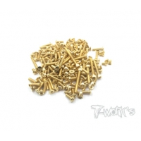 GSS-MP10 Gold Plated Steel Screw Set 160pcs. ( For Kyosho MP10 )