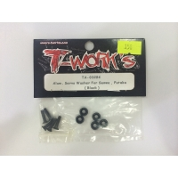 Alum. Servo washer for sanwa, futaba (black)