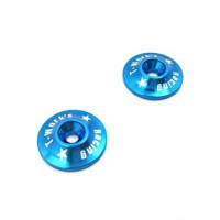 T-Work's 1/8 Aluminum Wing Washer (Blue)