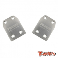 TO-220-X Stainless Steel Rear Chassis Skid Protector ( Xray XB8, XB9,XB8E ) 2pcs.