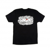 "AKA Racing ""Sidewall"" Short Sleeve Shirt (Black) (XL)"