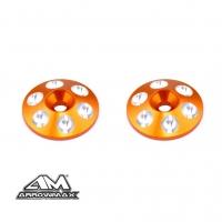 Alu Rear Wing Shims (Orange) (2)