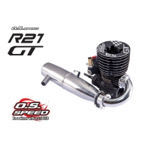 O.S. Speed R21 GT Engine w/T-2060SC Pipe
