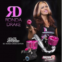O.S. Speed B21 Ronda Drake Pink Edition Engine/75mm Header/TB03-2100SC Pipe Combo Set