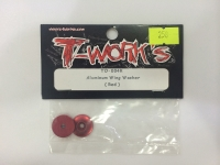 Aluminum wing washer (red)