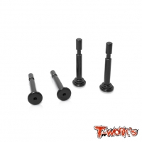 TO-198-MBX8 7075-T6 Hard Coated Lower Shock Mount Pins ( For Mugen MBX8 / MBX8 ECO) 4pcs.