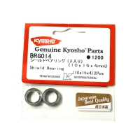 Kyosho 10x15x4mm Metal Shielded Ball Bearings (2)